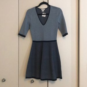 Club Monaco navy/light blue 3/4 sleeve dress